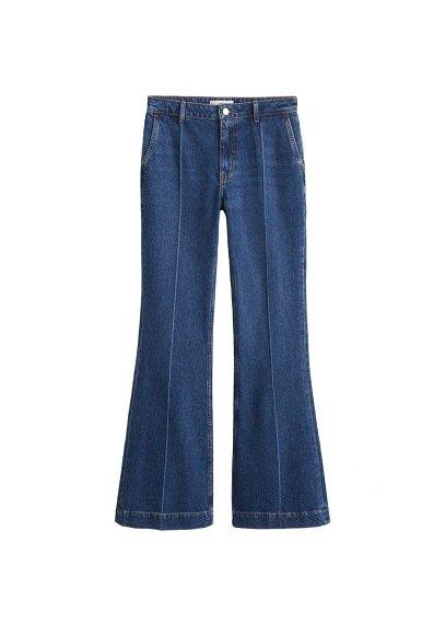 MANGO Decorative seam flared jeans