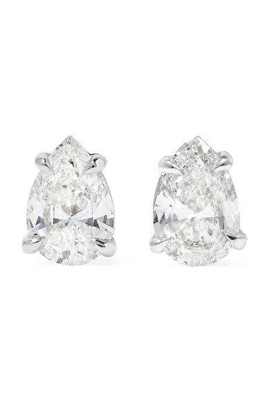 Anita Ko | Ohrringe aus 18Karat Weißgold mit Diamanten | NET-A-PORTER.COM