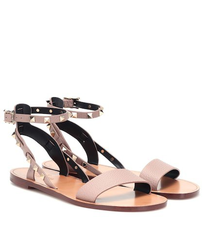 Valentino Garavani Rockstud Double leather sandals