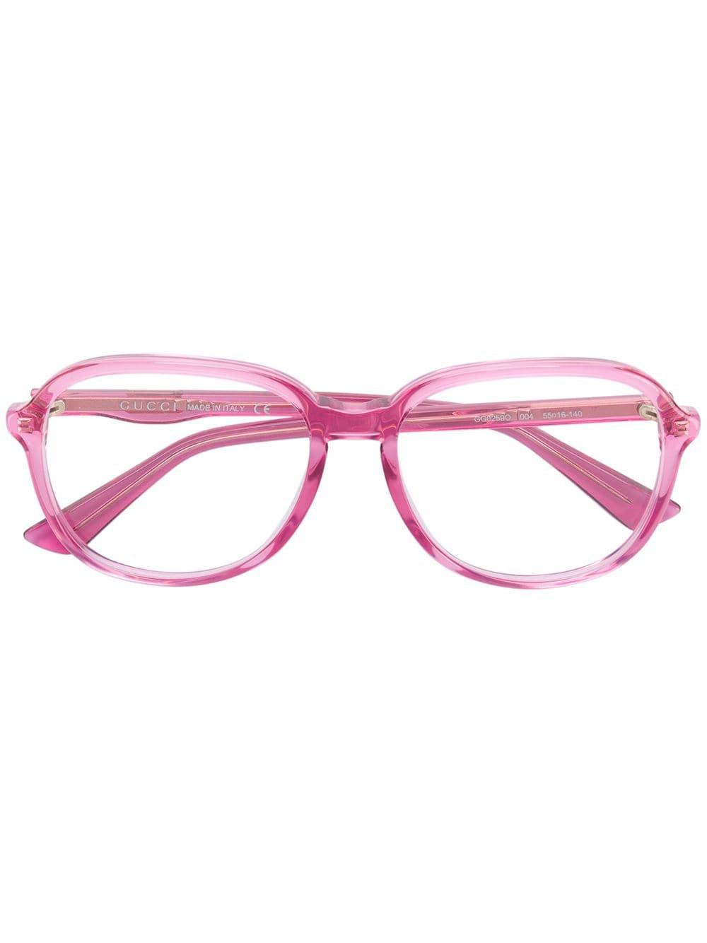 Gucci Eyewear Round Oversized Glasses