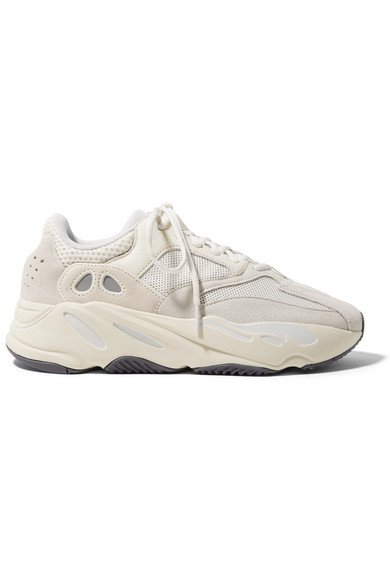 adidas Originals | Yeezy Boost 700 suede, leather and mesh sneakers | NET-A-PORTER.COM