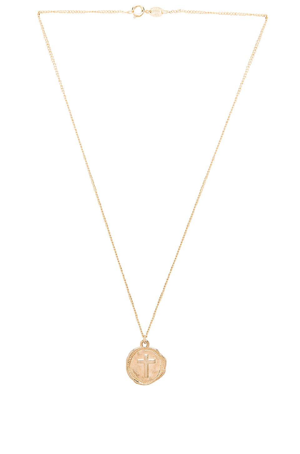 joolz by Martha Calvo Cross Coin Necklace in 14K Gold Plated | REVOLVE