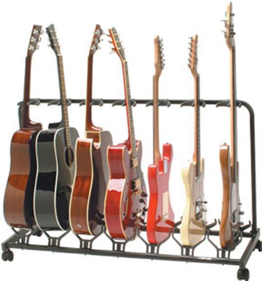 Quik-Lok 7-Slot Electric/Acoustic Guitar Stand