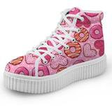 Donut Hi Top Sneakers Shoes Kawaii Fashion Footwear | DDLG Playground