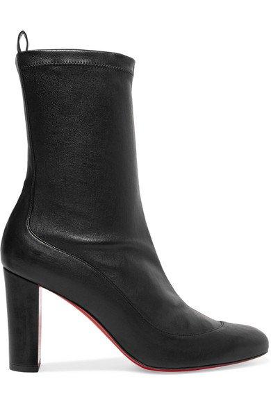 Christian Louboutin | Gena 85 stretch-leather sock boots | NET-A-PORTER.COM