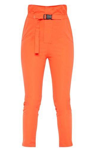 Orange Cargo Buckle Detail Trouser | PrettyLittleThing USA