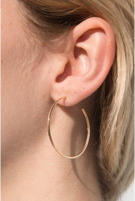 Gold Chunky Hoop Earrings - Just In