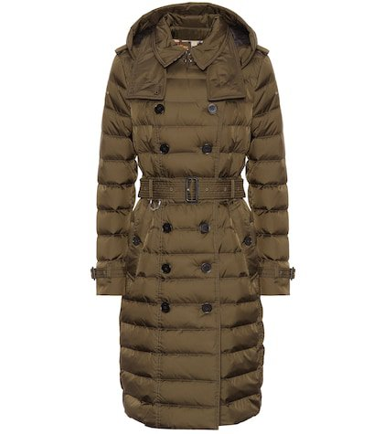 Double-breasted down puffer coat