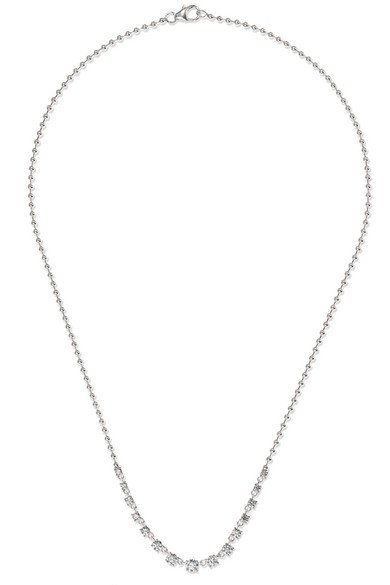 Jemma Wynne | 18-karat white gold diamond necklace | NET-A-PORTER.COM