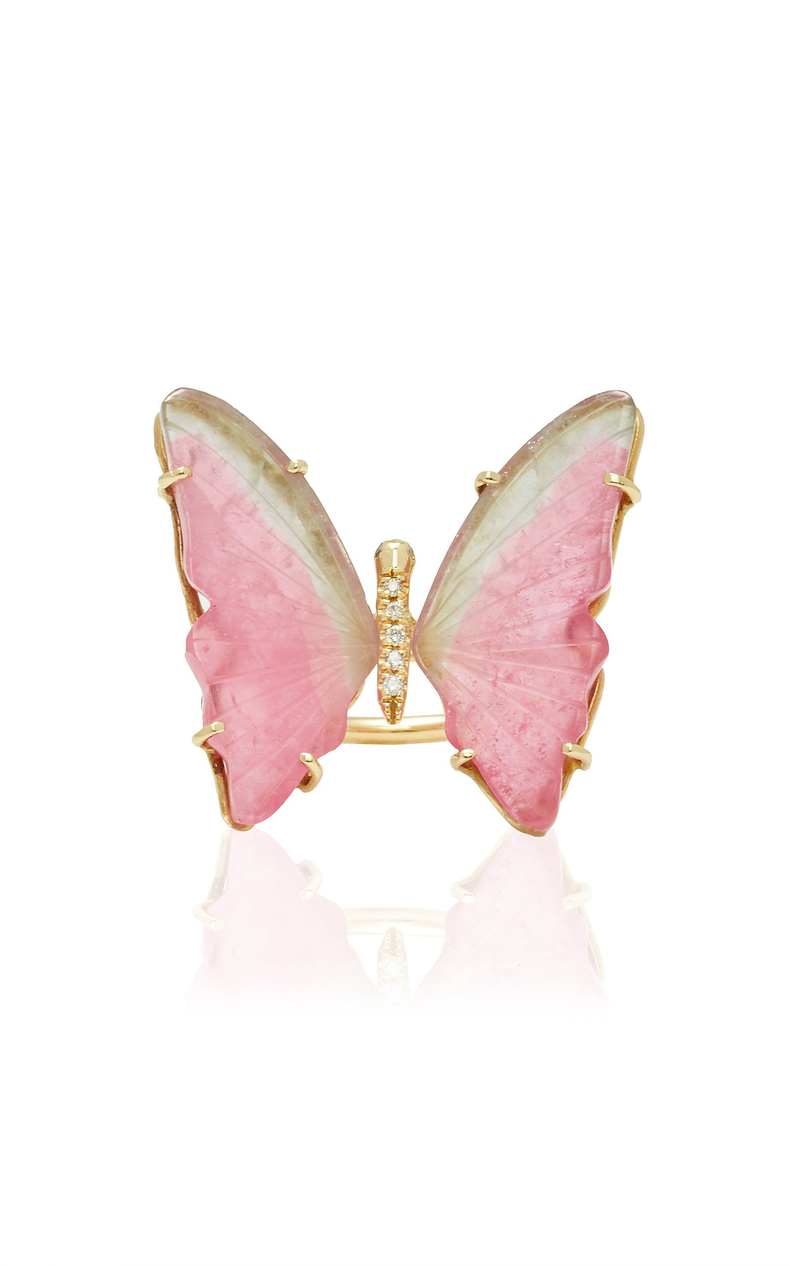 Jacquie Aiche Medium Pink Tourmaline Butterfly Ring