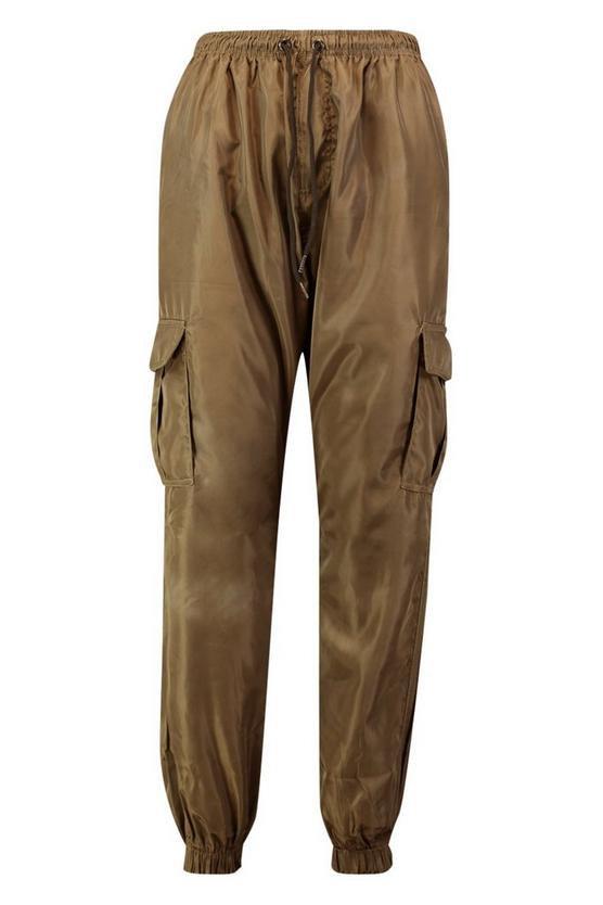 Pocket Detail Cargo Trouser   Boohoo olive