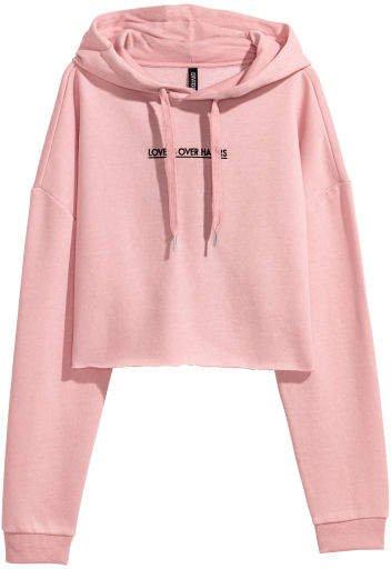 Short Hooded Sweatshirt - Pink