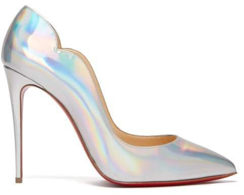 Hot Chick 100 Leather Pumps - Womens - Silver