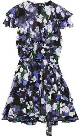 Sully Ruffled Floral-print Silk-georgette Mini Dress