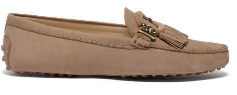 Gommini Tasselled Suede Loafers - Womens - Light Tan