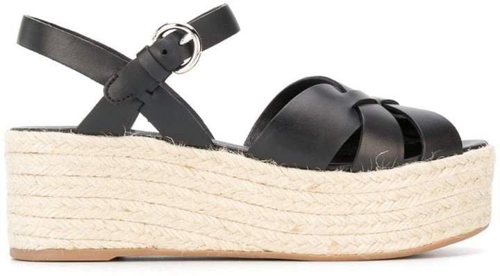 65mm wedge espadrille sandals
