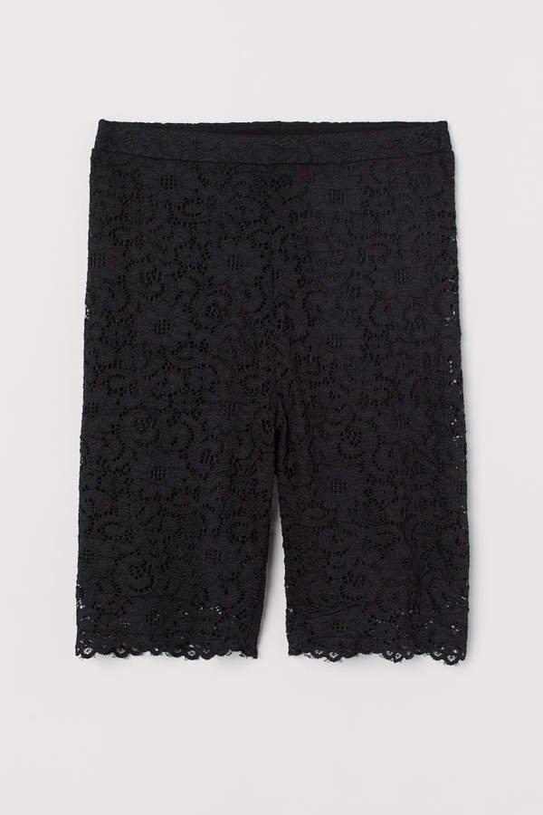 Lace Cycling Shorts - Black