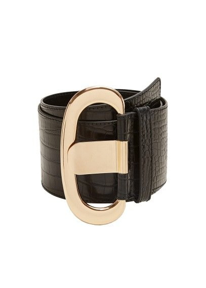MANGO Croc-effect wide belt
