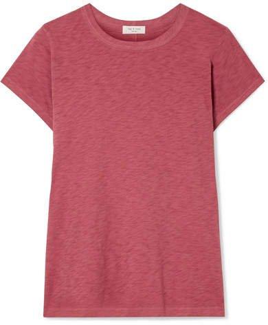 The Tee Slub Pima Cotton-jersey T-shirt - Brick