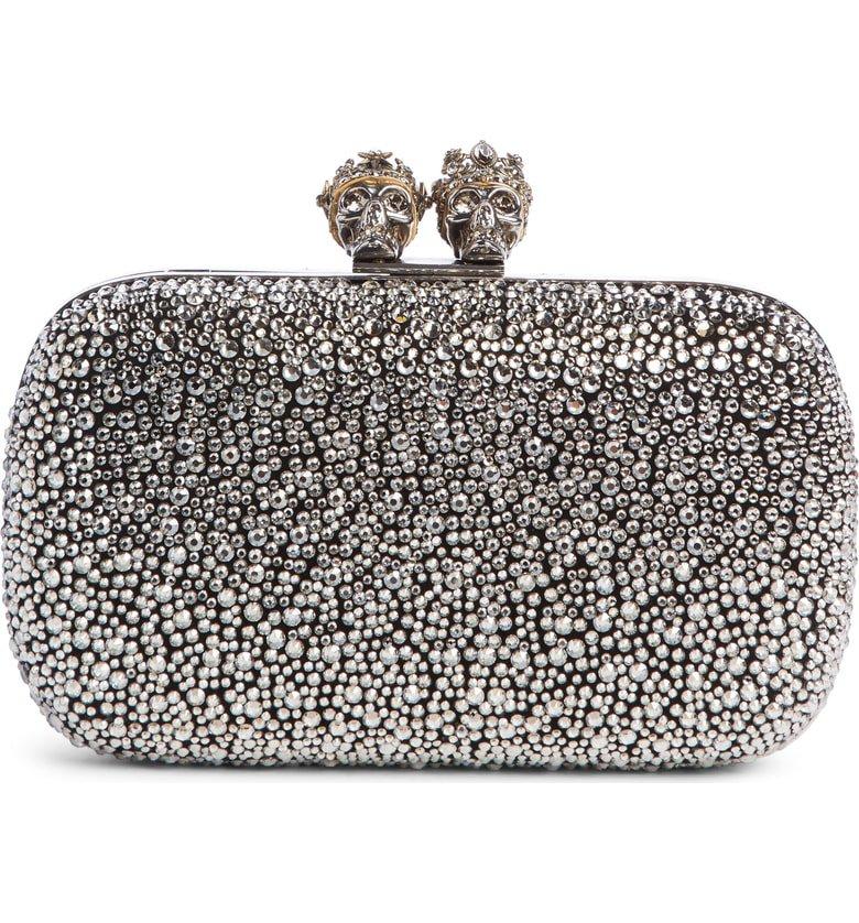 Alexander McQueen Crystal Embellished Queen & King Clutch | Nordstrom
