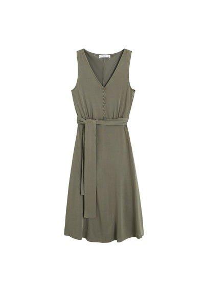 MANGO Bow modal dress