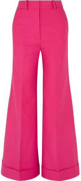 Khaite - Beatrice Cotton-twill Wide-leg Pants - Pink