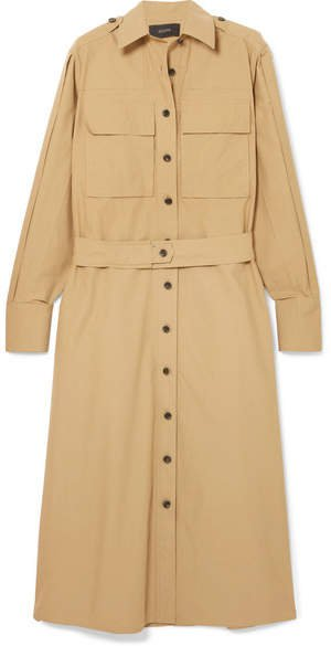 Hayes Cotton-poplin Midi Shirt Dress - Camel