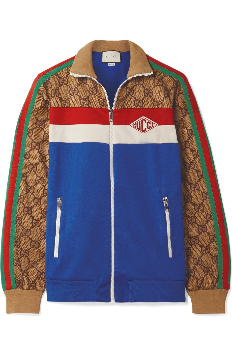 Gucci | Printed tech-jersey track jacket | NET-A-PORTER.COM