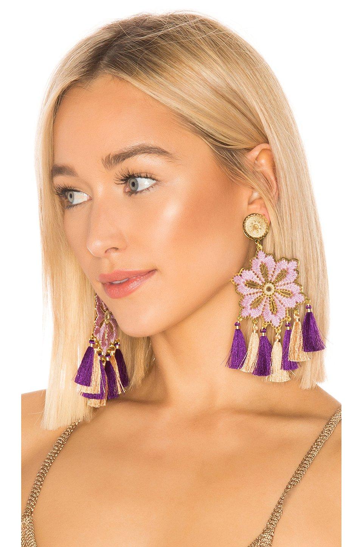Hibiscus Lila Earrings