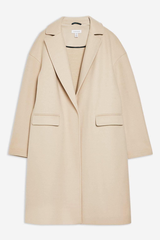 Stone Relaxed Coat - Jackets & Coats - Clothing - Topshop USA