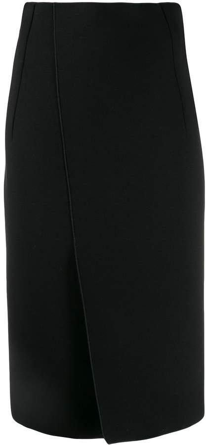 wrap pencil skirt
