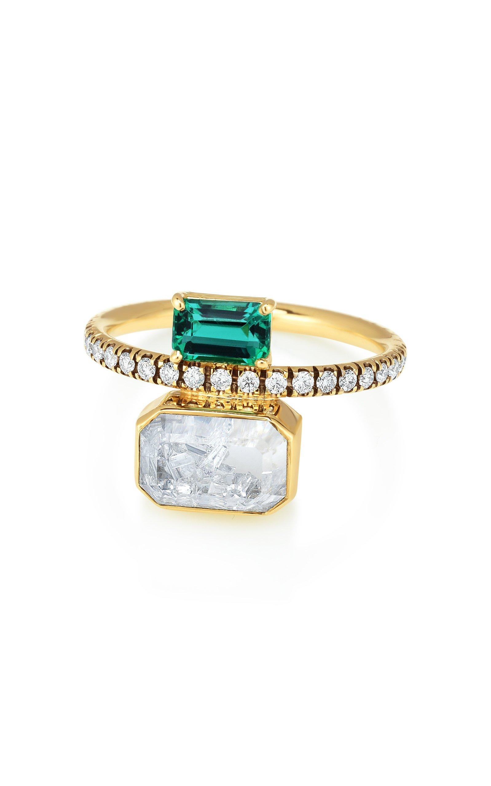 Moritz Glik Emerald And Diamond Kaleidoscope Shaker Ring