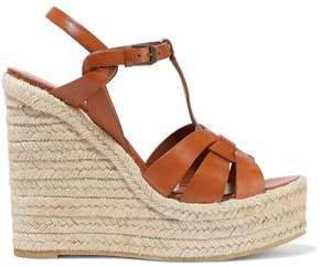 Ambra Leather Wedge Espadrille Sandals
