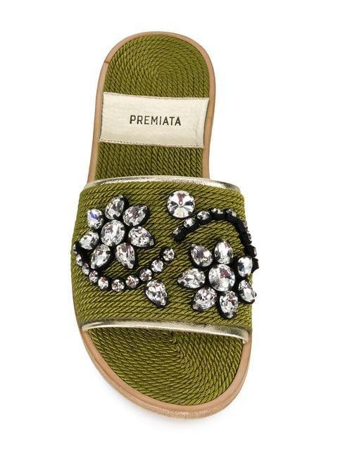 Premiata Embellished Slippers - Farfetch