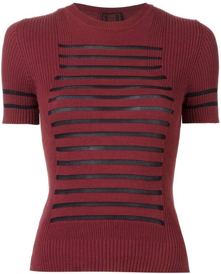 Pre-Owned 'Sailor' ribbed T-shirt