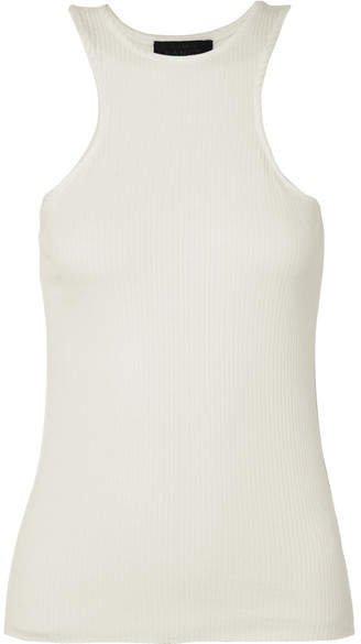 The Range - Ribbed Stretch-knit Tank - White