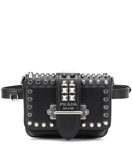 Cahier studded leather belt bag