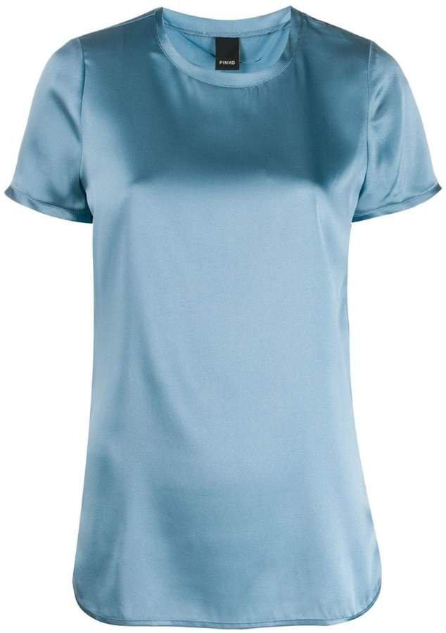 satin stretch T-shirt