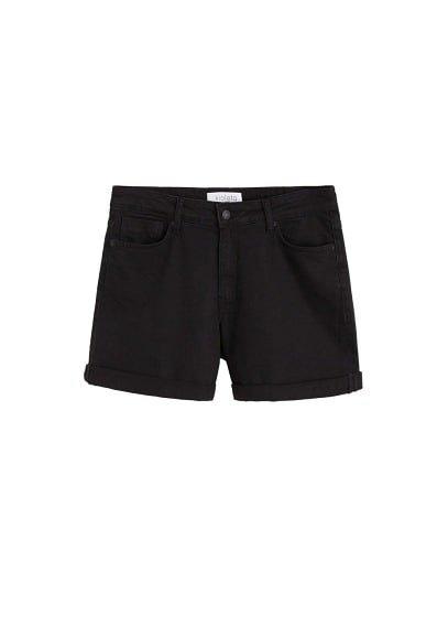 Violeta BY MANGO Black denim shorts