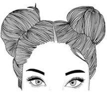 hair sketch - bun