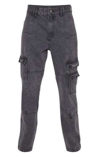 Black Combat Jeans | Denim | PrettyLittleThing
