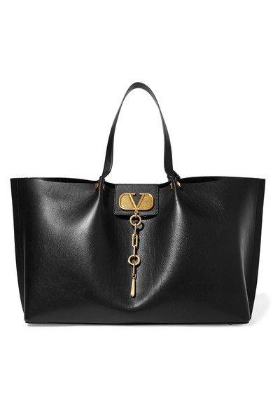 Valentino | Valentino Garavani Go Logo Escape large leather tote | NET-A-PORTER.COM