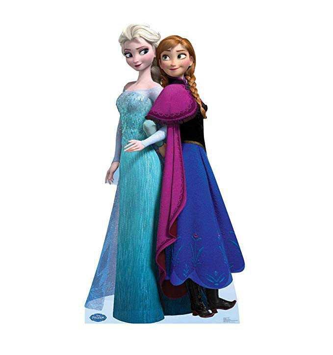 Amazon.com: Advanced Graphics Elsa and Anna - Disney's Frozen Life Size Cardboard Standup: Home & Kitchen