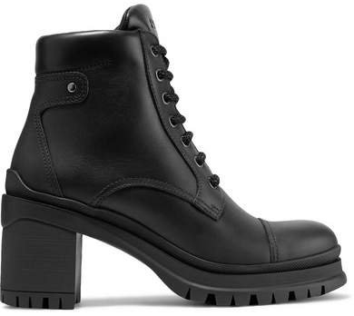 55 Leather Ankle Boots - Black