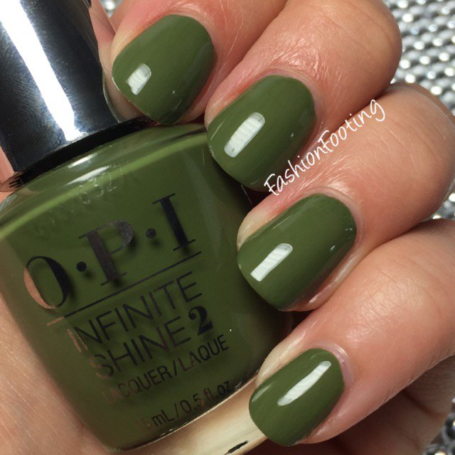 Olive Green Nails