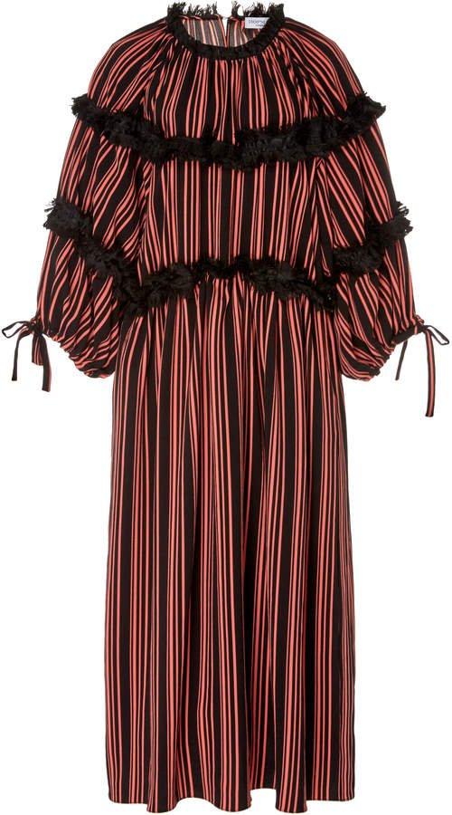 HOFMANN COPENHAGEN Marielle Striped Midi Dress