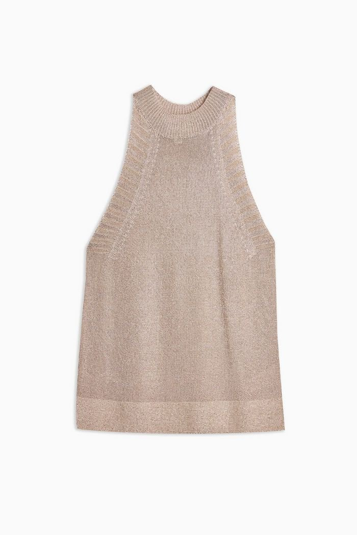 Knitted Metallic Tank Top | Topshop lilac