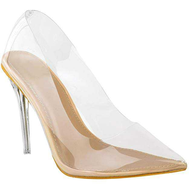 Amazon.com   Fashion Thirsty Womens Court Shoes Perspex Clear High Heel Stilettos Pumps Clear Party Size   Pumps