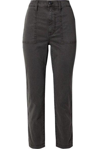 Madewell | Stretch cotton-blend straight-leg pants | NET-A-PORTER.COM