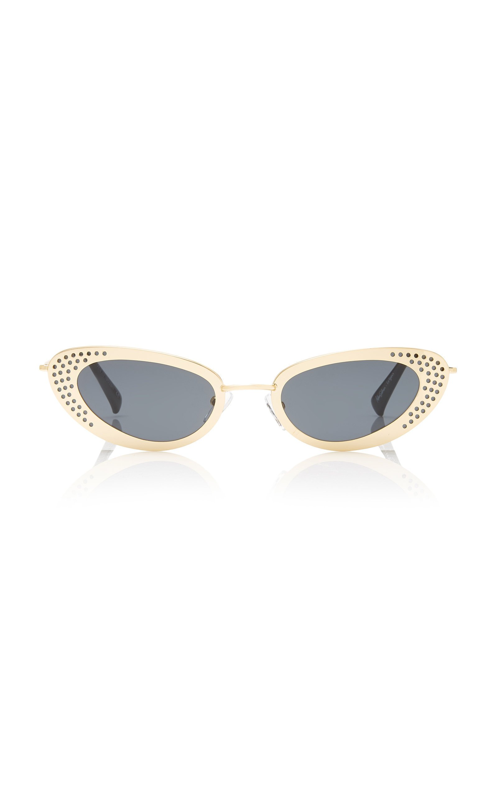 Adam Selman X Le Specs The Royale Metal Cat-Eye Sunglasses